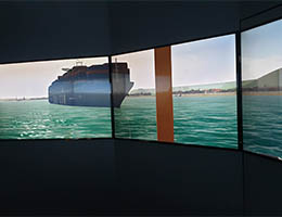 Ship simulator screens - LJMU Maritime Centre