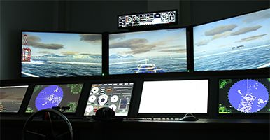 Close up shot of a simulator