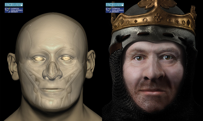 Robert the Bruce facial depiction
