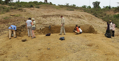 Anthropology dig site