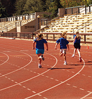 Running on the track