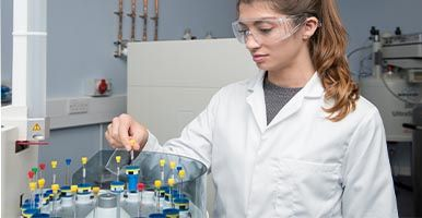 Student in a Science Laboratory