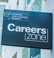 Careers zone sign
