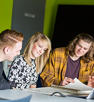 LJMU students studying