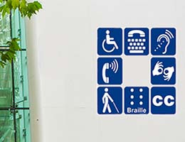 Disabled users sign