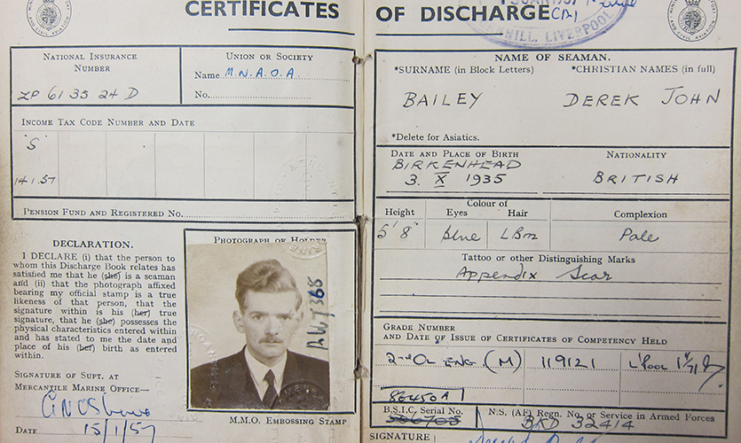 Derek Bailey discharge book