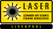 Leonardo Art Science Evening Rendezvous - Liverpool LASER - Logo