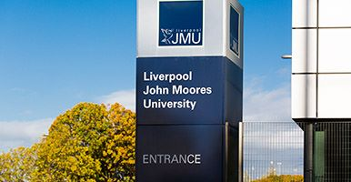 Liverpool John Moores University sign