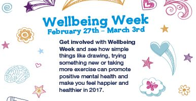 Image of the front cover of the Wellbeing week brochure