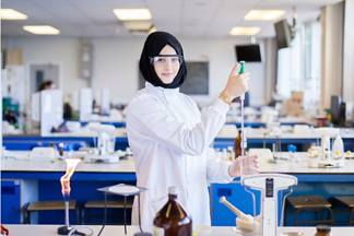 Image of Student in Lab